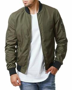 2020 New Autumn Winter Men's Bomber Zipper Jacket Male Casual Streetwear Hip Hop Slim Fit Pilot Coat Men Clothing Plus Size