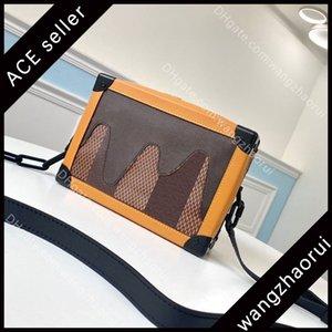 5A Origine Qualità Soft Truk Body Borse Body Borse Luxuri Desig Bags Genuine Pelle Borsa a tracolla in pelle Bran Bran Mens Borsa a tracolla con scatola A002