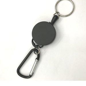 قابل للسحب كيرينغ سلك المعادن القابلة للتمديد 60 سنتيمتر المفاتيح كليب سحب حلقة رئيسية مكافحة فقدت بطاقة الهوية حامل مفتاح سلسلة 15 N2
