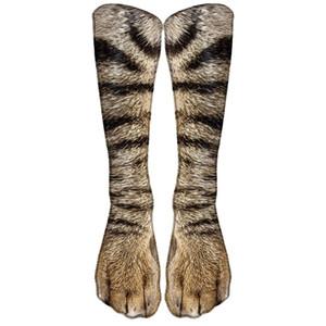 Nouveau Thermal Transfert Impression 3D Chaussettes imprimées Animal Unisexe Pied pour adulte Dog Paw Craws Personnalisé Chaussettes numériques Tube Long Tube GWF3843
