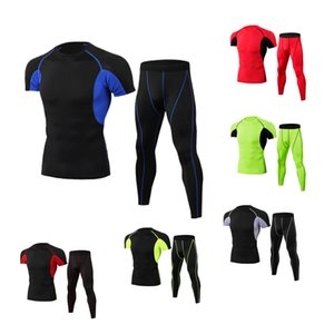 Men's Compression Sportswear Suit GYM Tight Clothes Yoga Sets Workout Jogging MMA Fitness Clothing Tracksuit Pants Sporting