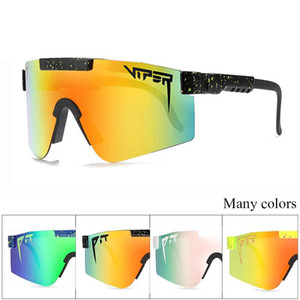 2021 Original Pit Viper Sport google TR90 Polarized Sunglasses for men women Outdoor windproof eyewear 100% UV Mirrored lens gift with case
