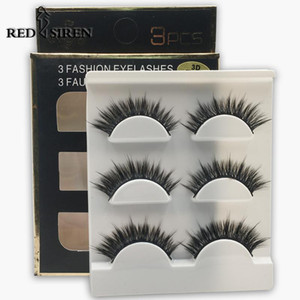 RED SIREN 3 Pairs Lashes False Eyelashes Makeup Soft Volume Faux Mink Lashes Extension Natural Eyelashes 3d Eye