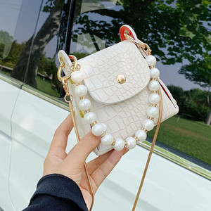 2020 New fashion Super Mini Shoulder Bags Stone Pattern PU Leather Crossbody Bag For Women's Pearl Design Handbags Female Messenger Bags