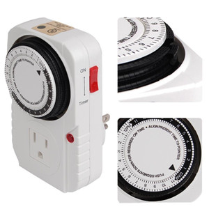 New 24-hour Grounded Timer 1875W 15A For Home Grow Tent Fan Blower Aquarium Light US Good