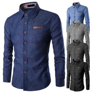 ZOGAA Hot Sale Spring Autumn Features Shirts Men Casual Jeans Shirt New Arrival Long Sleeve Casual Slim Fit Male Fashion Shirt