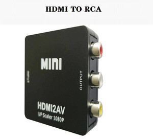 HDMI an RCA, Gana 1080P HDMI bis 3RCA CVBS AV Composite Video Audio Converter Adapter unterstützt PAL / NTSC mit USB-Ladekabel für PC-Laptop H