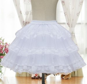 Cute Layer Crinoline Lace Skirt Lolita Petticoat Short Underskirt Women Hoopless Skirt Costume Organza Tutu Bouffant For Girls Z1122