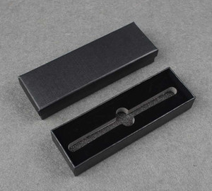200pcs lot Black Business Pen Box Office Stationery Gift Pen Boxes Packing Carrying Package Boxes Wholesale SN3560