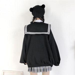 New Girls Women Hoodies Spring Autumn Female Loose Long Sleeve Coat Sweatshirts Fashion Women Casual Sweatshirt Jacket Kawaii