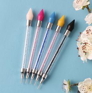 200pcs New Nail point drill tool Acrylic double-head crayon Multi-function wax head nail pen