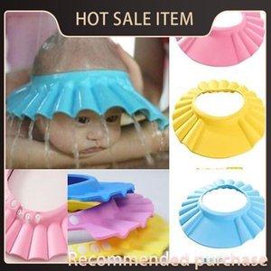 Niños Champú Soft Cap Ducha Baby Bath Cap Ajustable Baby Shower Sombrero Bebé Niños Pelo Lavado Shampoo Shield Gjlvs