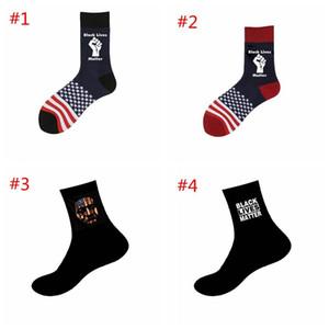 Black Lives Matter Socks George Floyd Black Lives Materies Unisexe Adulte Chaussettes occasionnelles Basketball America Drapeau Ahe3004