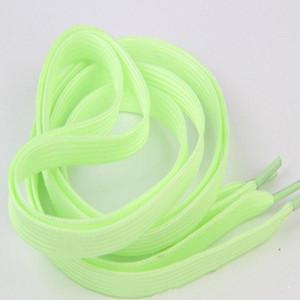 Glow In The Dark Night Color Fluorescent Shoelace One Luminous Shoelaces Flat Sneakers Canvas Shoe Laces 60cm 80 100 120 140cm