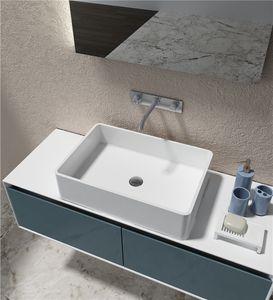 Nordic Ceramic Wash Basin Square Countertop Hand Basins Simple White Bathroom Art Wash Basin Home Wash Sink Bowls