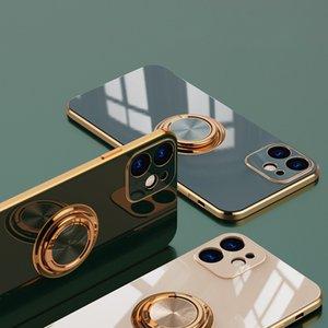 Estuche para teléfono móvil Adecuado para IP 12 S21 S20 Funda de teléfono móvil Mini / PRO11 / 7P / XS Cubierta de protección de anillo de galvanoplastia Magnético