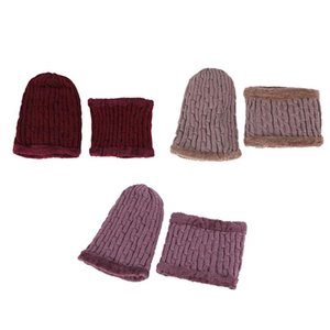 Winter Balaclava Women's Stripes Knitted Hat Caps Mask Gorras Winter