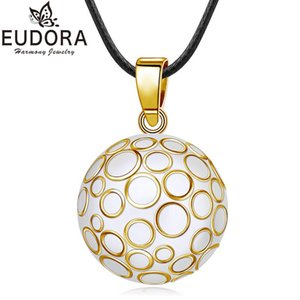 EUDORA 22mm Mexican Bola Harmony Chime Ball Golden Bubble Sound Bell Pregnancy Pendant Necklace for Women Fashion Jewelry Gift