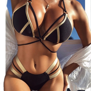 Best Selling Sexy Swimwear Women Bikini Set Solid Designer Fashion Trends Swimsuit Cut Out Summer Beach Bathing Suits Swim 3 Colors VWPK