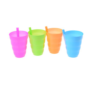 Wholesale Kids Children Infant Baby Sip Cup with Built In Straw Mug Drink Home Colors