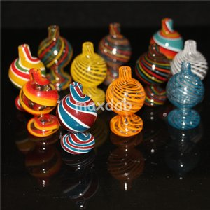 Color Glass Bubble Carb Cap UV Ball Carb Caps For Beveled Edge Quartz Banger Nails Glass Water Bongs Pipe Dab Rigs