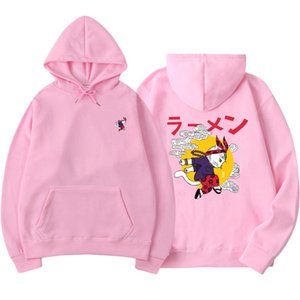 Japanese Fashion 2019 New Autumn printing Funny Cat Wave Printed Fleece Hoodies Winter Japan Style Hip Hop Casual Sweatshirt Y1204