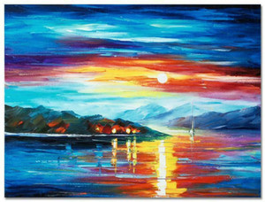 """Leonid Afremov """"Asla Yalnız"""" Ev Dekorasyonu Handpainted HD Baskı Yağlıboya Tuval Duvar Sanatı Tuval Resimleri 7706"""