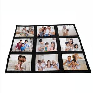 125 * 150cm Sublimação Thermal Fleece Cobertor Calor de Calor Tecido Mat De Pelúcia DIY Tapete Em Branco 9 15 20 Grade Cobertor de Manta DDA822