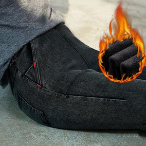 2020 Winter Jeans Women Velvet Fleeces Inside Thickening Denim Pants High Waist Warm Trousers Female jeans woman Pants Plus size
