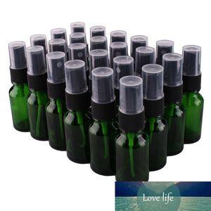 24pcs 15ml Green Glass Spray Bottle w  Black Fine Mist Sprayer essential oil bottles empty cosmetic containers