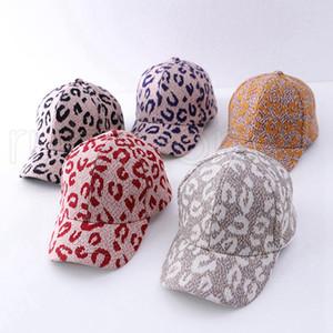 Yetişkin Leopar Hayvan Print at kuyruğu Beyzbol şapkası Çocuk Criss Çapraz Pamuk Topu Cap Moda Leopard Yüksek Dağınık Hat 7styles RRA3820 Yıkanmış
