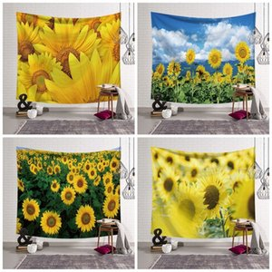 Decorative Hanging Wall Tapestries Polyester Fiber Sunflower Printed Blanket Home Furnishing Decoration Beach Towel For Outdoor 28ls E1