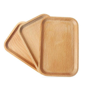 Wooden Soap Dishes Square Wooden Fruits Plate Dish Wooden Dessert Biscuits Tea Server Tray Wood Cup Holder Bowl Pad Tableware Mat HWC4068