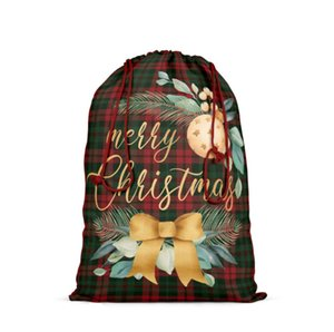 The latest 64X48CM size, many styles, Christmas gift bags, Christmas decorations, candy bags, linen drawstring pockets, free shipping