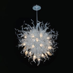 Clear Ball Shape Murano Glass Chandelier Fancy Art Pendant Light Wholesale Price Customized Chandeliers for House Deco