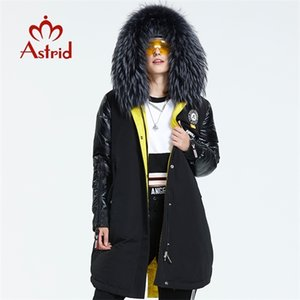 Astrid 2019 Winter new arrival down jacket fur collar fashion style with a hood long coat women AR-3022 Q1119