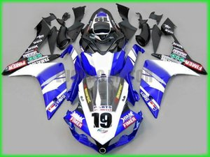 New ABS Injection white blue black Fairings Bodywork Kit Molding Fairing body Kits For Yamaha YZF R1 07 08 YZF-R1 2007 2008 YZFR1 fairings
