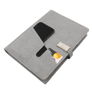 Fashion PU Leather Power Bank Notebook Planner Diary Notebook Power Bank with Wireless Charger, Note Book Power Bank With 3 in 1 USB Cable