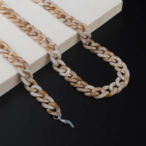 12 Colors Acrylic Resin Leopard Glasses Chain Spectacle Rope Sunglasses Chain Landyard Straps Sunglasses Holder H jllHcS