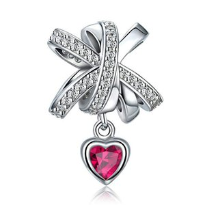 Diy Silver S925 Heart Shaped Loose Bead Charms Pendant Wholesale Hot Selling Diamond Love Beaded Bracelet Accessories