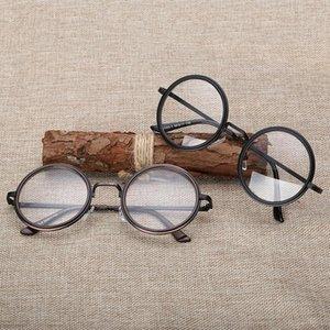 Olnylo retro runde frauen brillen rahmen klare objektiv myopie brillen frames männer transparent optische verschreibung