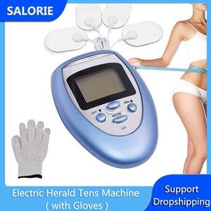 Electric Tens Tens мышечный стимулятор EMS десятки машины физиотерапевтический цифровой массаж тела массажер массажер терапия иглоукалывание