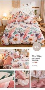 Wholesale home textile 100% cotton fabric velvet comfortable luxurious bedspread pillowcase 4-piece set Sheet Duvet Cover