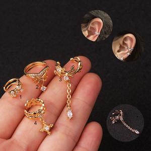Ear Piercing Stud Earrings Simple Ear Bone Nails Earring Creative Cuff Earring Huggie Stud Body Tool Fashion Jewelry for Women Kimter-L957FA