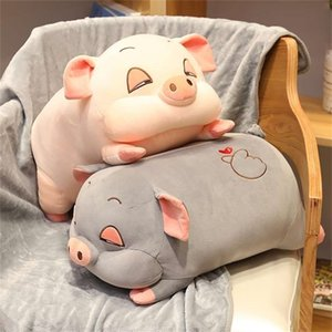 2in1 Cute hamster plush toy sleeping pillow with blanket bed doll pig mouse washable super soft pillow high quality gift for kid 201210