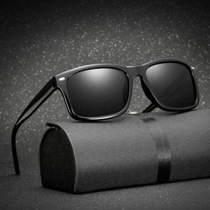 Polarisateur long pilote Polarisateur Verre anti-éblouissement Polarized Night Vision Men Riding Keeper Sunglasses PKXXB