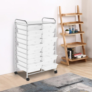 20 Drawers Rolling Cart Storage Mutli Color Scrapbook Paper Studio Organizer