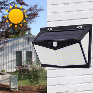 LED Solar Powered Night Light Outdoor PIR Motion Sensor Garden Security Wall Lamp Waterproof Sunlight for Garden Decoration