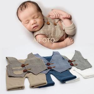2020 Newbornaphy Photography Prop для нарядов реквизит реквизиты Baby Boy Boy Boys Установить день рождения фотографии съемки костюм фоография фото аксессуары Q0104