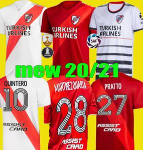 2020 2021 리버 플레이트 축구 유니폼 20 21 De La Cruz Quintero Borre Fernandez Pratto Camiseta de River Plate Ponzio Football Shirts